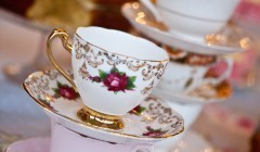 Vintage crockery for hire from time for tea, for wedding and parties.