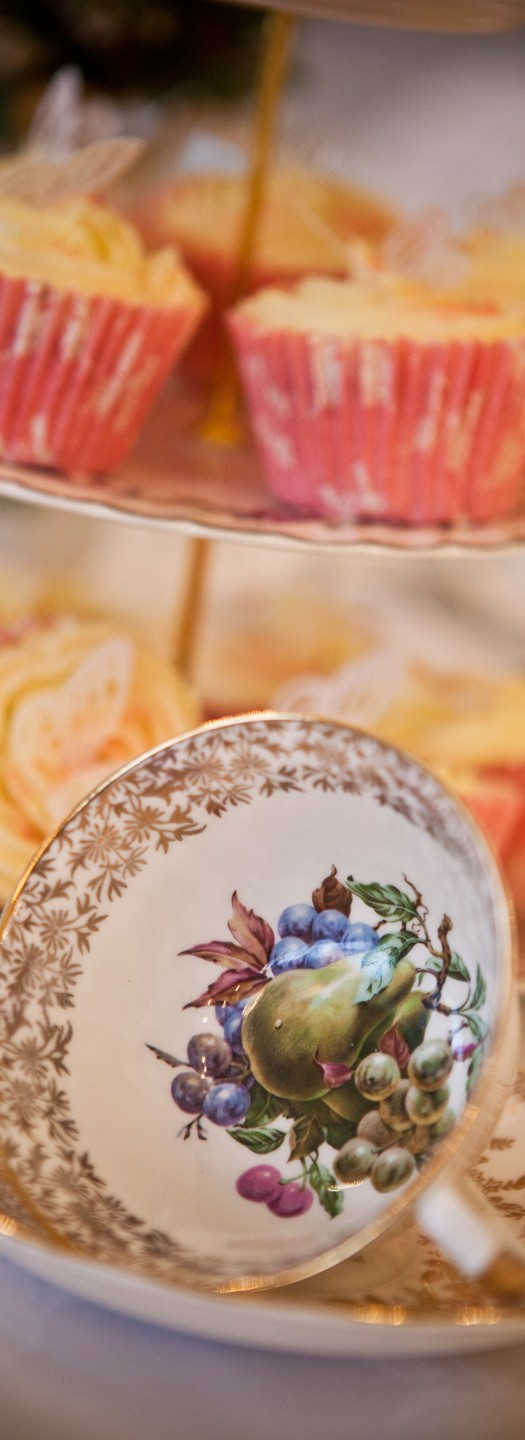 Vintage crockery for hire.